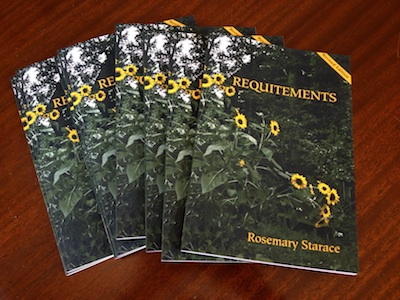 Cover of Requitements, rev. 2015, poetry by Rosemary Starace, published by Elelphant Tree House, 2015